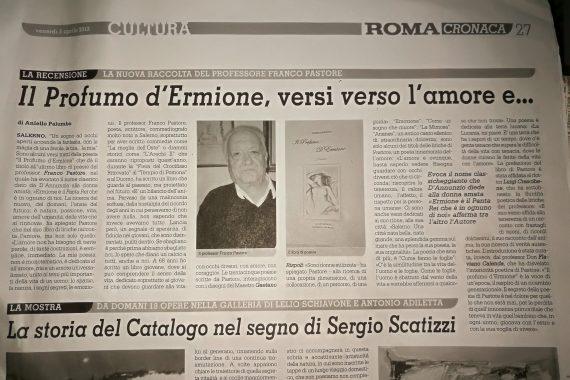 ROMA CRONACA MENZIONA FRANCO PASTORE